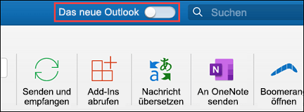 Neues Microsoft Outlook für Mac