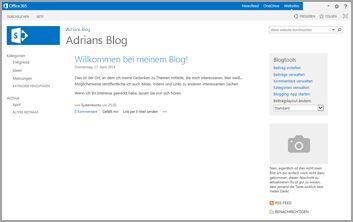 Blogwebsite-Vorlage