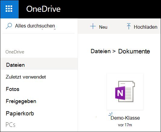 "Microsoft-Konto OneDrive-Ordner ""Dokumente"""