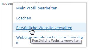 Verwalten von Websitesammlungen Websitebesitzer