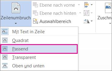 """Zeilenumbruch """"Passend"""""""