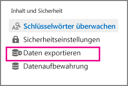 """Befehl """"Daten exportieren"""""""