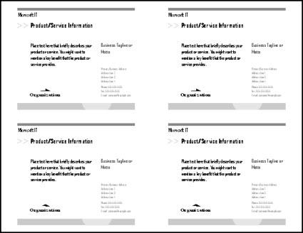 Druckvorschau mit vier Postkarten auf dem Blatt
