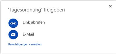 """Screenshot: Dialogfeld """"Freigeben"""""""