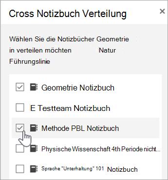 Fenster für Auswahl der Kreuztabellen Verteilung
