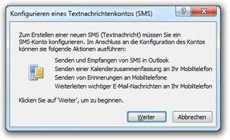Konfigurieren eines Textnachrichtenkontos