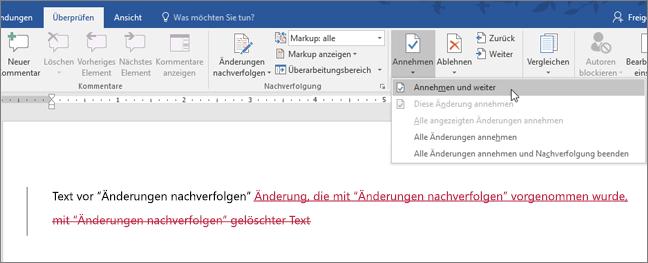 Office 365 Word – Änderungen nachverfolgen