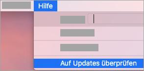 Hilfe > Nach Updates suchen