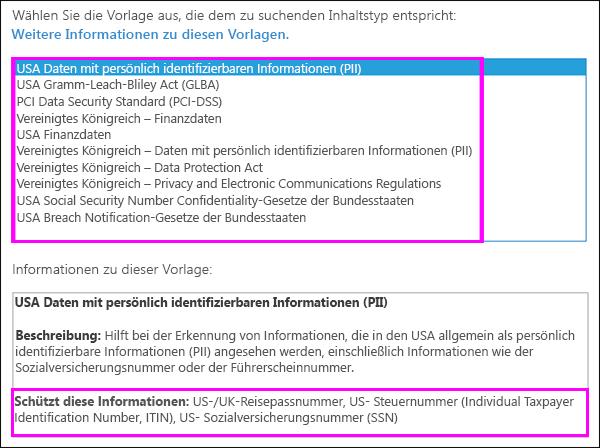 DLP-Richtlinienvorlagen
