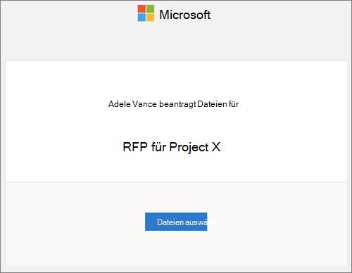 Die Benachrichtigung, die empfangen wird, wenn ein OneDrive for Business-Benutzer Dateien anfordert