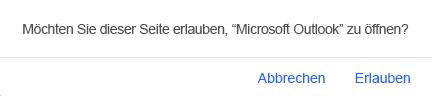 Eingabeaufforderung, zu Outlook zurückzukehren