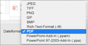 PowerPoint 2016 for Mac: Exportieren als PDF