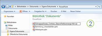 Dateierweiterung von PPTX in ZIP ändern