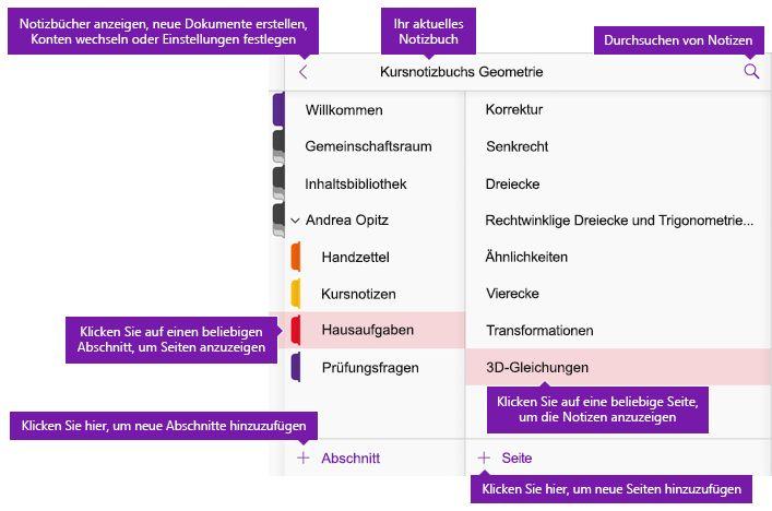 onenote notizbuch