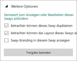 """Option """"Sway-Branding in diesem Sway anzeigen"""""""