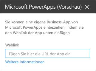 Eigenschaftenbereich von Power apps