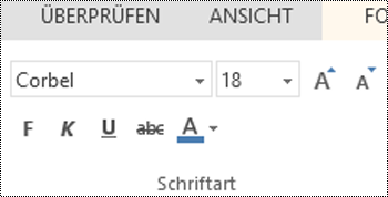 Schriftartgruppe in PowerPoint Online