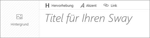 """Screenshot des Eingabefelds """"Titel Ihres Sways"""""""