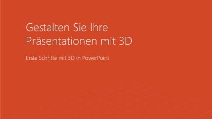 Screenshot des Deckblatts einer 3D-Vorlage in PowerPoint