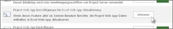 Project Web App-Berechtigung für Excel Web App aktualisieren