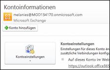 Hinzufügen eines neuen E-Mail-Kontos in Outlook 2010