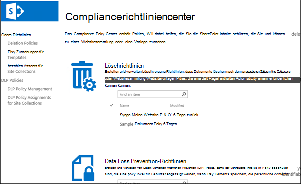 Compliancerichtliniencenter
