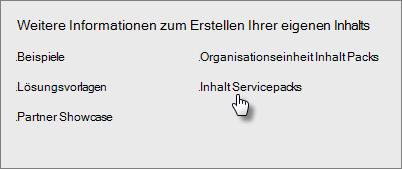 """Wählen Sie unter """"Inhaltspaket-Bibliothek"""" in """"Dienste"""" den Befehl """"Abrufen"""" aus."""