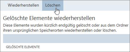 """Screenshot der Schaltfläche """"Löschen"""""""