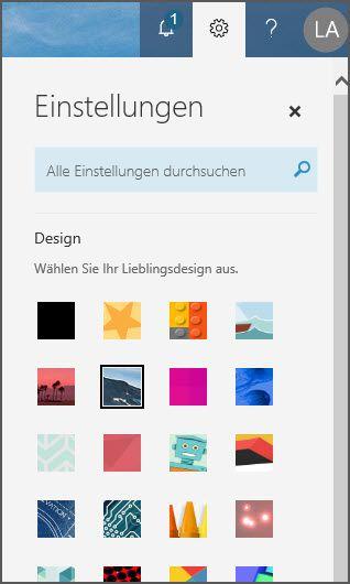 Designoptionen