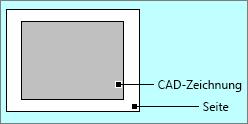AutoCAD-Zeichnung innerhalb der Seitenränder