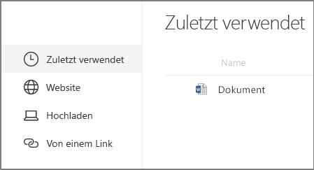Dokument-Webpart einfügen