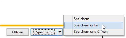 Ein Screenshot als Schaltfläche Speichern