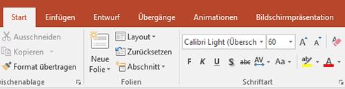 Zeigt den Textmarker im PowerPoint-Menüband an.