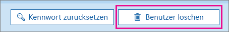 Löschen eines Benutzers in Office 365
