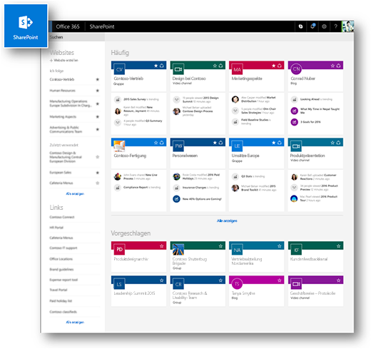 Moderne SharePoint Online-Homepage