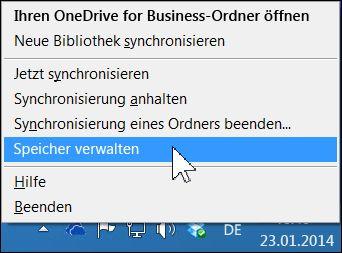Ihren OneDrive for Business-Speicher verwalten