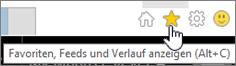 """Internet Explorer, Schaltfläche """"Feeds"""""""