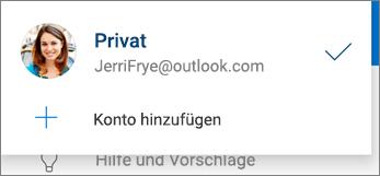 Konto hinzufügen in der OneDrive-App für Android