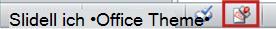 Das in der Statusleiste von PowerPoint 2010 angezeigte 'Als abgeschlossen kennzeichnen'-Symbol