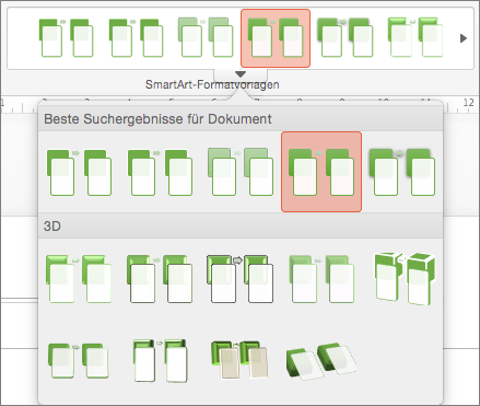 SmartArt-Formatvorlagen