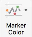Die Schaltfläche Datenpunktfarbe