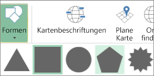 "3D-Karten-Option ""Formen"""