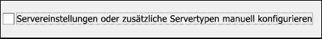 Manuelle Konfiguration für Ihr Gmail-E-Mail-Konto auswählen