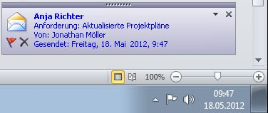 Outlook-Desktopbenachrichtigung