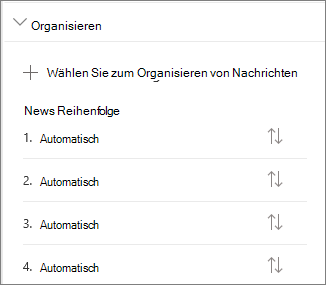 """Abschnitt """"Nachrichten organisieren"""""""