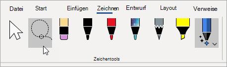 Wählen Sie das Tool Lasso aus.