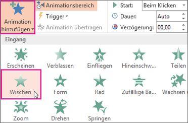 Einen Animationseffekt in PowerPoint hinzufügen