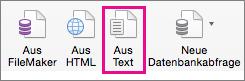 """Wählen Sie auf der Registerkarte """"Daten"""" die Option """"Aus Text"""" aus."""