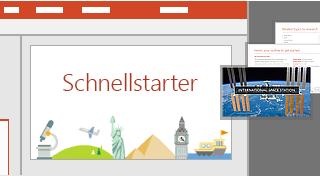 PowerPoint-Schnellstarter-Funktion
