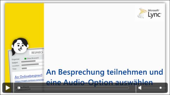 Bildschirmfoto einer PowerPoint-Folie mit Videosteuerelementen